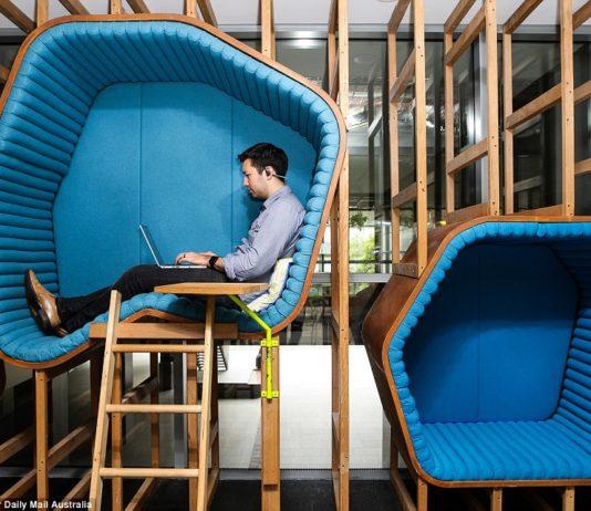 google headquarter working young man