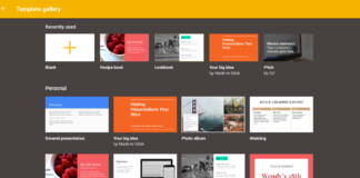google slides new template gallery