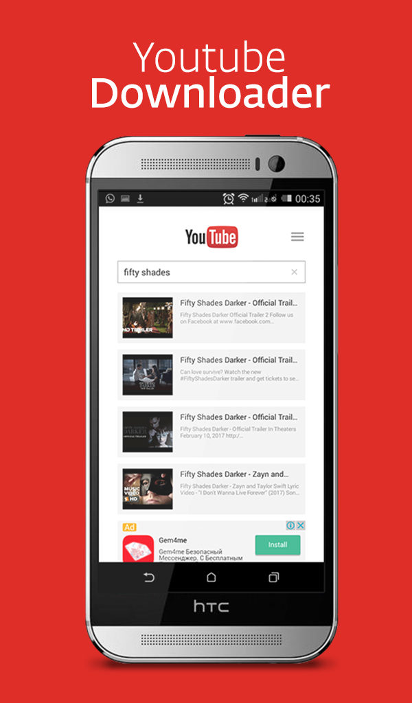 youtube music video downloader app for android